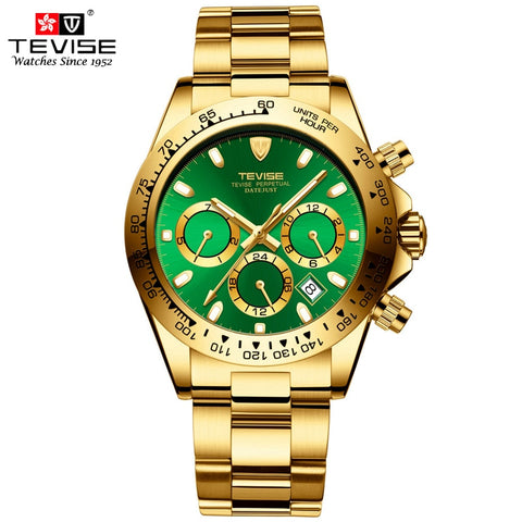 TEVISE Gold Men Watch