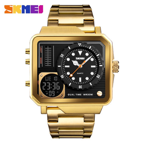 SKNEI Gold Men Watch