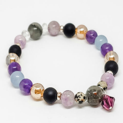 February Birthstone and Gemstone Bracelet