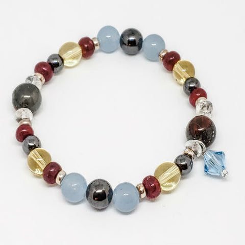 March Birthstone and Gemstone Bracelet