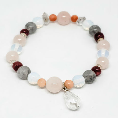 April Birthstone and Gemstone Bracelet
