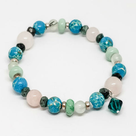 May Birthstone and Gemstone bracelet