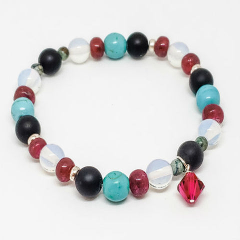 July Birthstone and Gemstone Bracelet