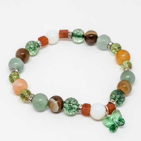 August Birthstone and Gemstone Bracelet