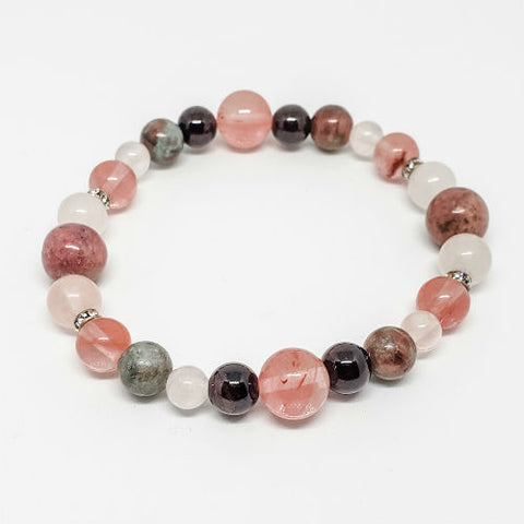 Attracting Love Healing Crystals Bracelet