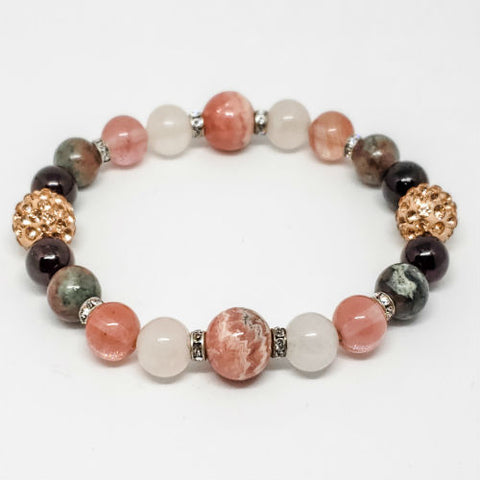 Attracting Love Intentions Healing Crystal Bracelet