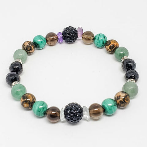 Electromagnetic Waves Protection Healing Crystals Bracelet