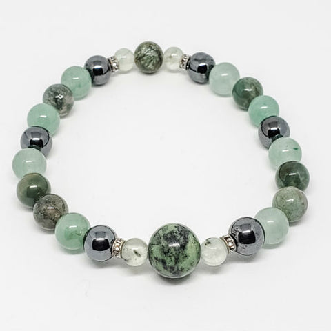 Calm, Peace & Joy intentions healing crystals bracelet