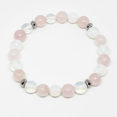 Image of Moonstone and Rose Quartz Fertility Enhancer Bracelet