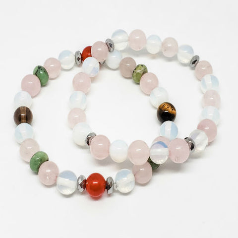 Fertility Bracelet With Moonstone and Rose Quartz Enhancer