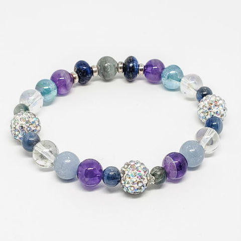Image of Intuition enhancing Healing Crystals Bracelet