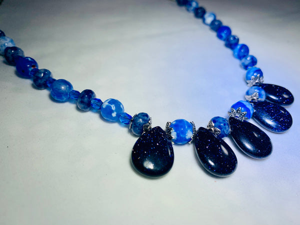 Blue Goldstone Handmade Necklace