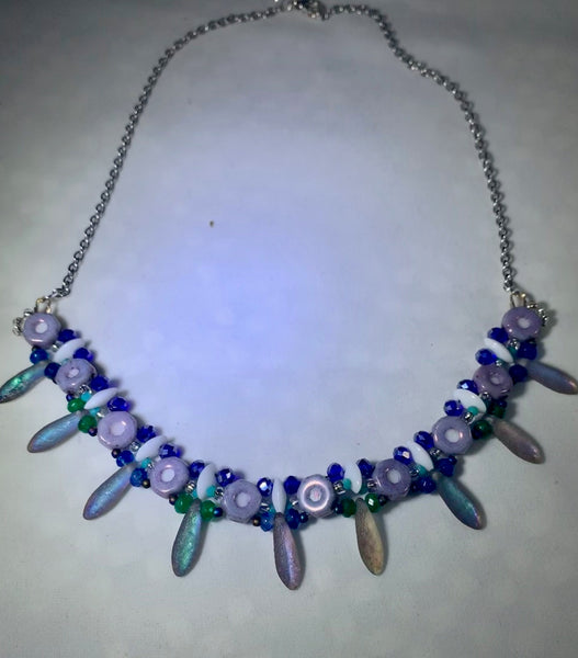 Czech Glass Handwoven Necklace