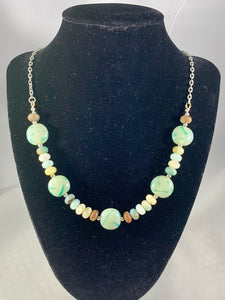 Amazonite Natural Gemstone Handmade Necklace