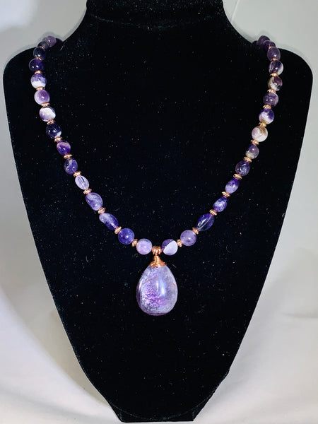 Natural Amethyst Jewelry Set