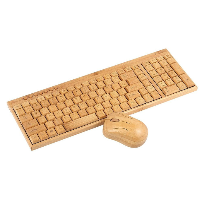 2.4G Wireless Bamboo PC Keyboard and Mouse Combo - Nature's Cosmos