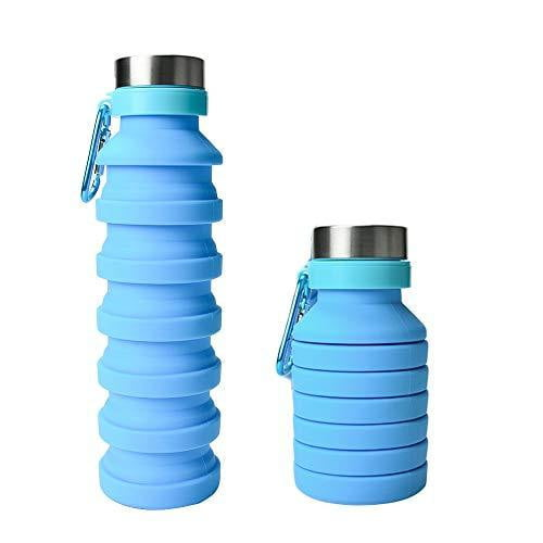 Collapsible Silicone Water Bottle Set - Nature's Cosmos