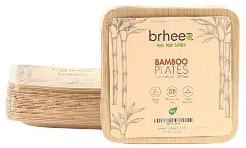 Bamboo Disposable Square Plates - Nature's Cosmos