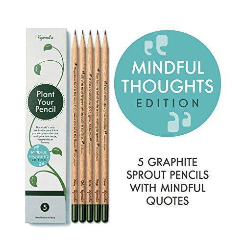Wood Graphite Pencils with Plantable Seeds - Nature's Cosmos