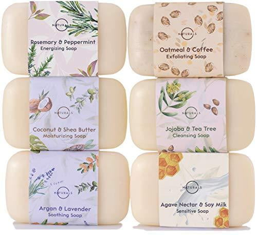 6 Piece Moisturizing Body Wash Soap Bar Collection - Nature's Cosmos