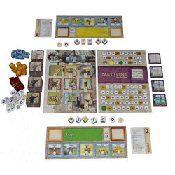 Nations The Dice Game Components