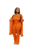 3 Piece Rust Crop Set