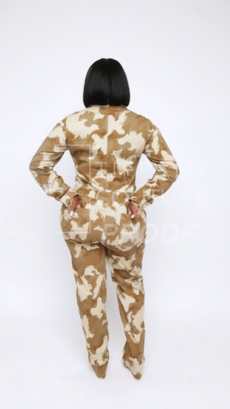 Set it off Jumpsuit Camo Edition