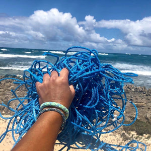 ocean cleanup blue net recycled fishing gear