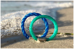 recycled ocean beach ghostnet rings