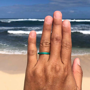 green sea turtle ring beach jewelry hawaii