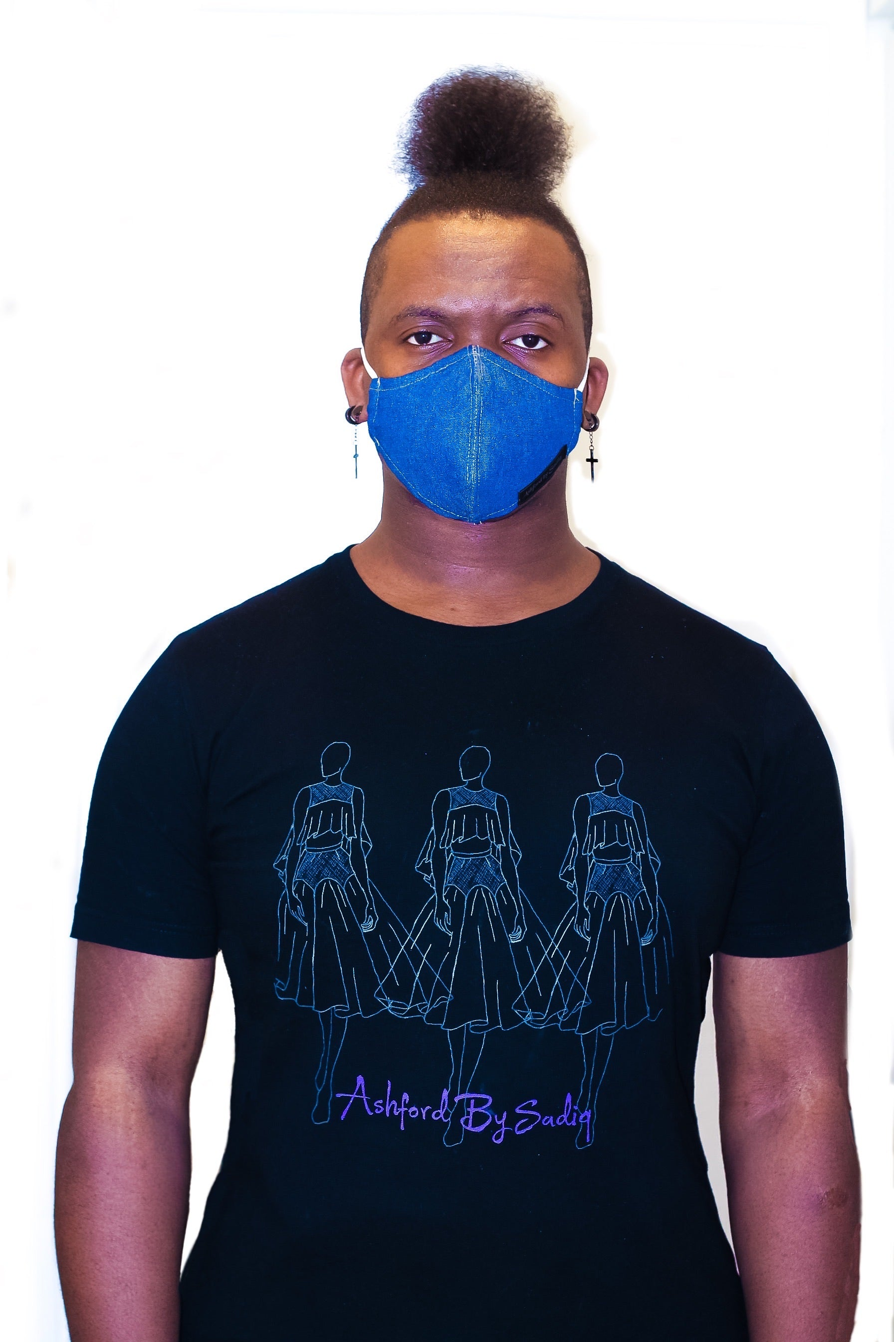 "Signature ""Abysadiq"" Denim Mask"