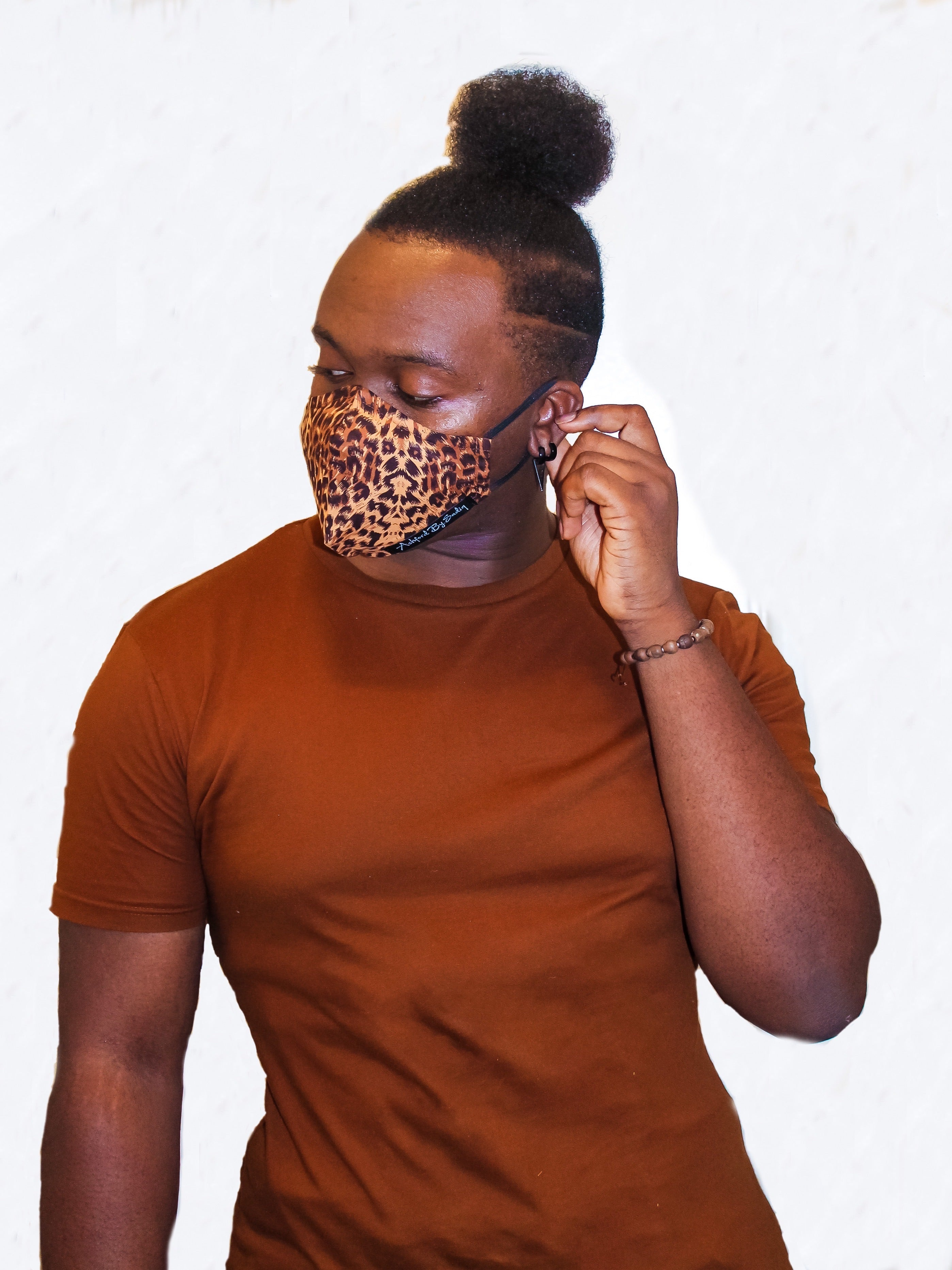 "Leopard skin ""Coffee Edition"" Face Mask"