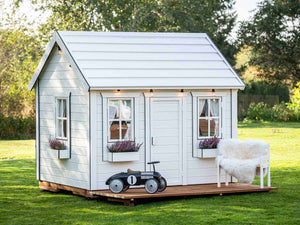 Decorated Kids Playhouse Arctic Nario |white Outdoor Playhouse by WholeWoodPlayhouses