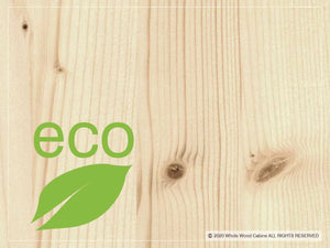 Eco label for Outdoor Kids playhouse Boy Cave by WholeWoodPlayhouses