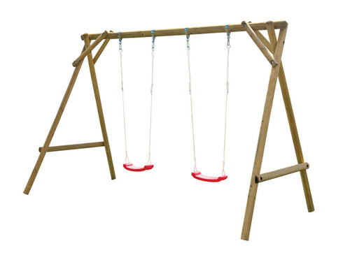 Outdoor swing set Mathias with two swings for kids by WholeWoodPlayhouses