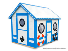 Load image into Gallery viewer, Marine Sailing Ocean style kids playhouse Marine Max by WholeWoodPlayhouses