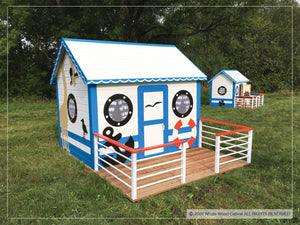 Outside of kids playhouse Marine Max | sailing ship indoor playhouse by WholeWoodPlayhouses