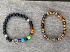 Hamsa Hand Beaded Energy Bracelets - Choice of Colors