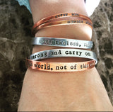 In This World, Not Of This World Copper Bangle Bracelet