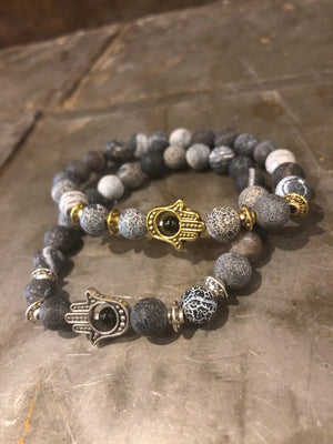 Hamsa Protection Natural Stone Bracelets