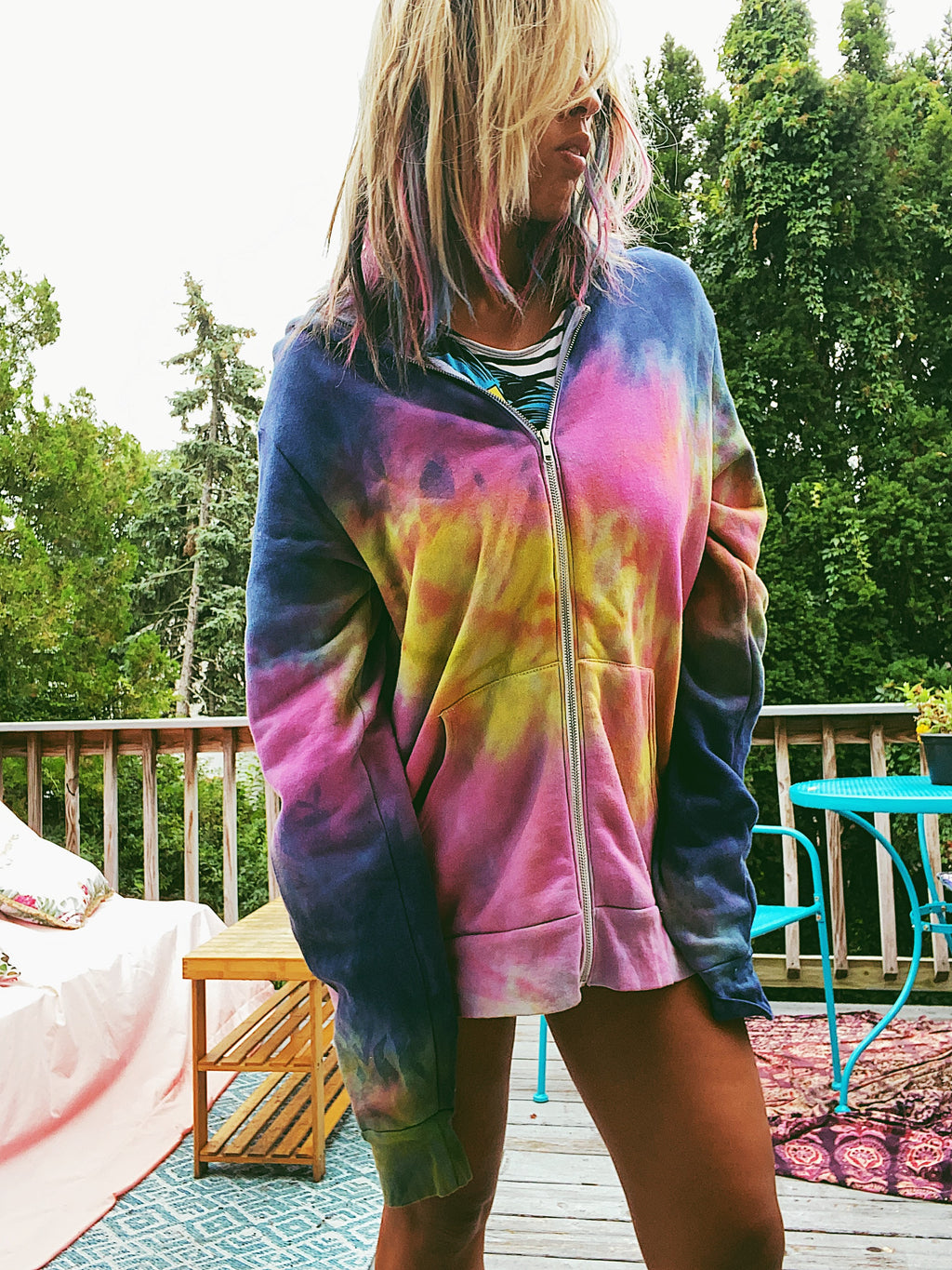 Perfect Storm Tie Dye Hoodie Special Edition Indigo Blend
