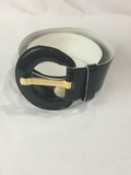 Vintage Black and White Belt | Size 36