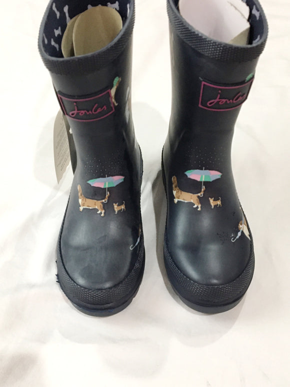 Joules Field Printed Wellington Rain Boots | Size 10