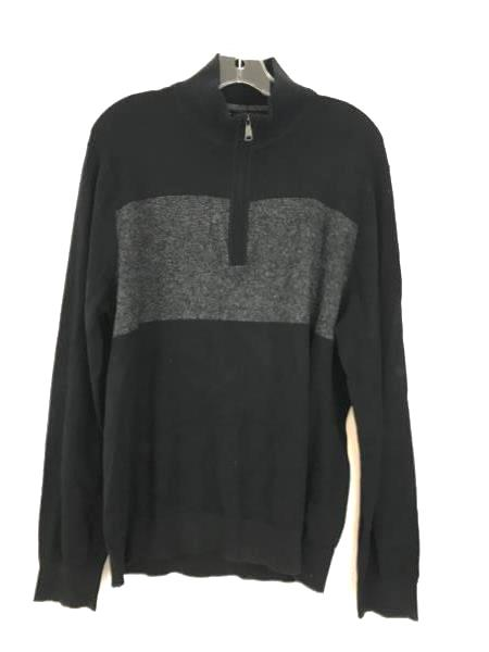 Banana Republic Pima Cotton Cashmere Half Zip Sweater Black NWT | L