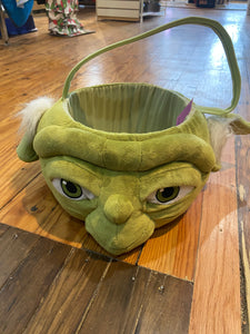 Star Wars Yoda Plush Halloween Trick or Treat Candy Basket Bucket Pail