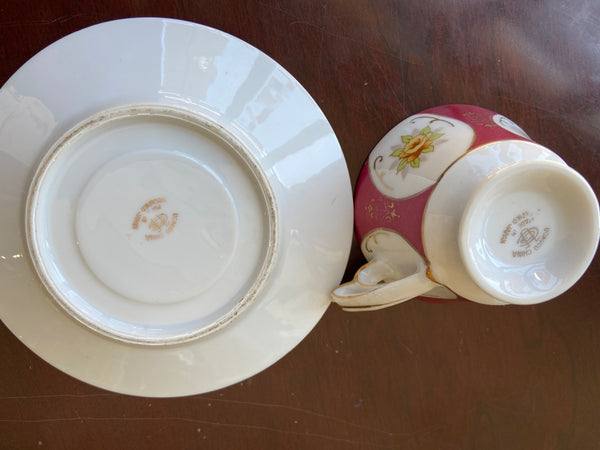 "Ucagco China Demitasse cup and saucer ""Made in Occupied Japan"""