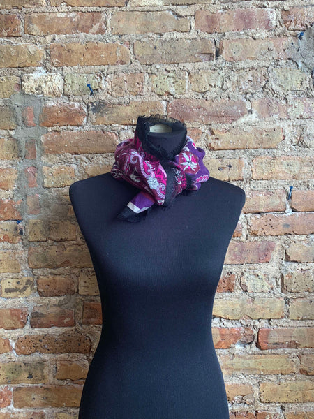 Purple Italian Wool Scarf