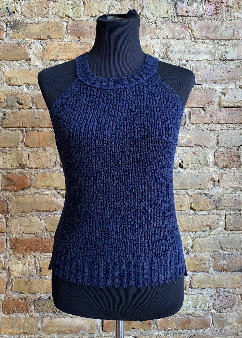 JCrew Navy Sleeveless Top