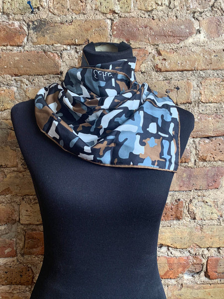 Echo Black Blue/Gray Brown Scarf