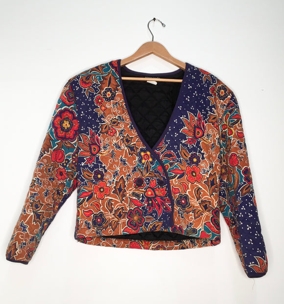 Pierre Cardin Floral Quilted Blazer | Size L